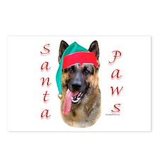 Santa Paws German Shepherd Postcards (Package of 8