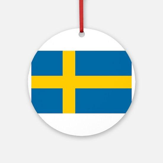 Sweden - National Flag - Current Round Ornament