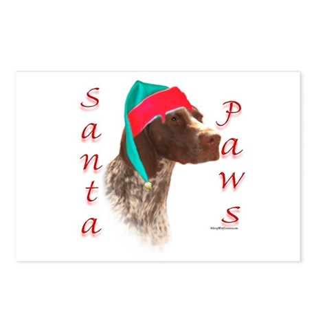 Santa Paws GSP Postcards (Package of 8)