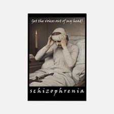 Schizophrenia Rectangle Magnet