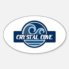 Crystal Cove Surfer Pride Sticker (Oval)
