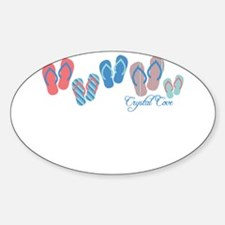 Crystal Cove Sandal Stripe Sticker (Oval)