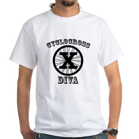 Cyclocross Diva White T-Shirt