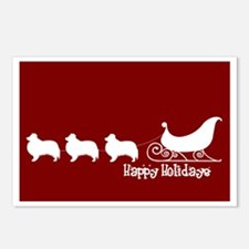 """Sheltie """"Sleigh"""" Postcards (Package of 8)"""