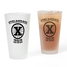 Cyclocross Mommy Diva Drinking Glass
