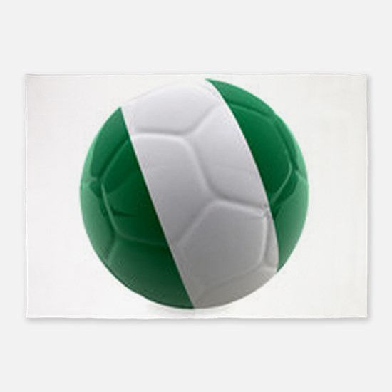 Nigeria World Cup Ball 5'x7'Area Rug