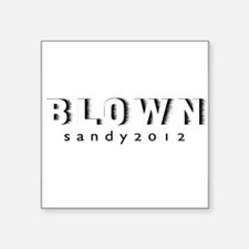 "Sandy2012 White Square Sticker 3"" x 3"""