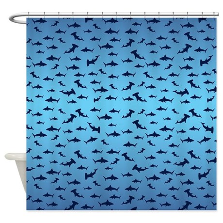 Sharks shower curtain by crazybouthercat