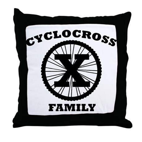 Cyclocross Family Throw Pillow