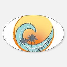 Doheny State Sunset Crest Sticker (Oval)