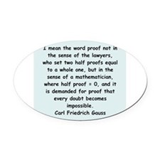 gauss3.png Oval Car Magnet