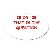 MATH8.png Oval Car Magnet