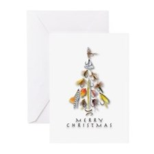 Christmas_Flies Greeting Cards