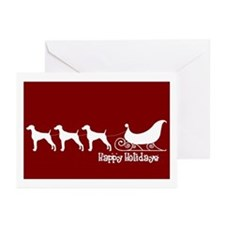 "Weimaraner ""Sleigh"" Greeting Cards (Pk of 10)"