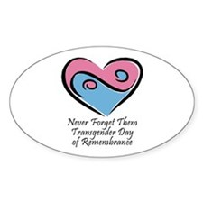 Transgender Day of Remembrance Oval Decal
