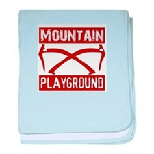 Mountain Playground baby blanket