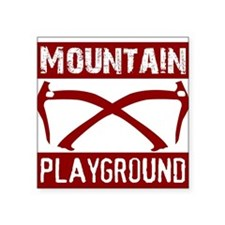 "Mountain Playground Square Sticker 3"" x 3"""