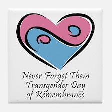 Transgender Day of Remembrance Tile Coaster