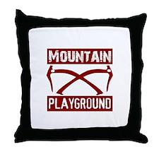 Mountain Playground Throw Pillow