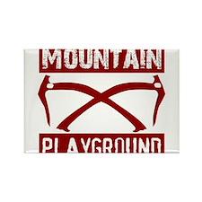 Mountain Playground Rectangle Magnet