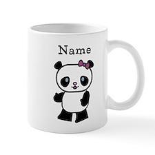 Personalize Panda Girl Small Mug