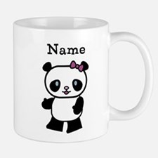 Personalize Panda Girl Small Mugs