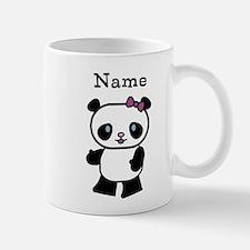 Personalize Panda Girl Small Small Mug