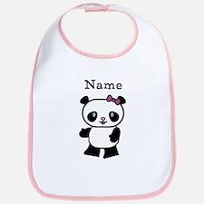 Personalize Panda Girl Bib