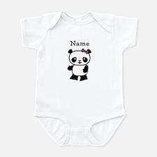 Personalize Panda Girl Infant Bodysuit
