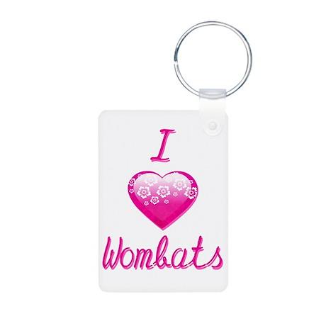 I Love/Heart Wombats Aluminum Photo Keychain
