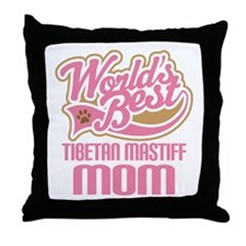 Tibetan Mastiff Mom Throw Pillow