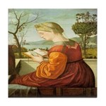The Lady Reading Tile Coaster