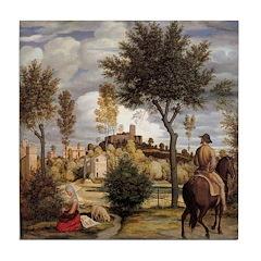 The Horseman Tile Coaster