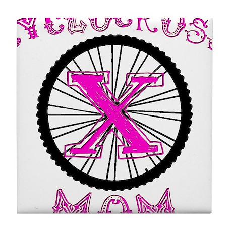 Cyclocross Mom Unique Tile Coaster