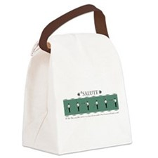 Fencing Salute Canvas Lunch Bag