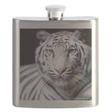 White Bengal Tiger Flask