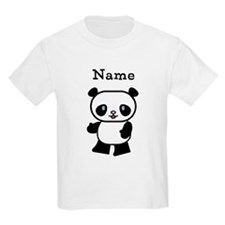Personalized Panda Kids T-Shirt