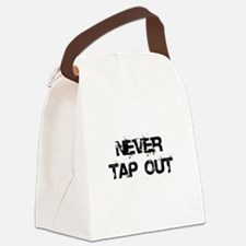 Never Tap out Canvas Lunch Bag