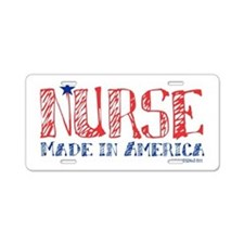 Nurse made in America Aluminum License Plate