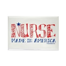 Nurse made in America Rectangle Magnet