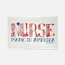 Nurse made in America Rectangle Magnet