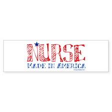 Nurse made in America Bumper Sticker