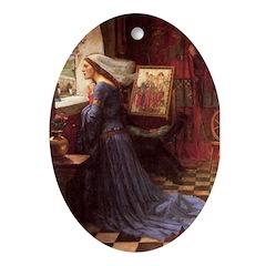 Fair Rosamund Oval Ornament