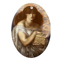 Pandora's Box Oval Ornament