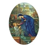 The Prioress' Tale Oval Ornament