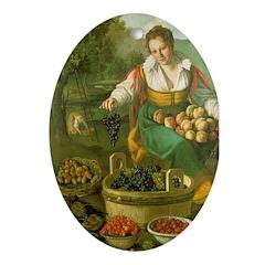 The Fruitseller Oval Ornament