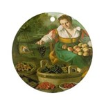 The Fruitseller Ornament (Round)