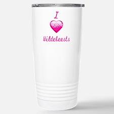 I Love/Heart Wildebeests Travel Mug