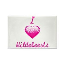 I Love/Heart Wildebeests Rectangle Magnet