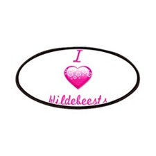I Love/Heart Wildebeests Patches